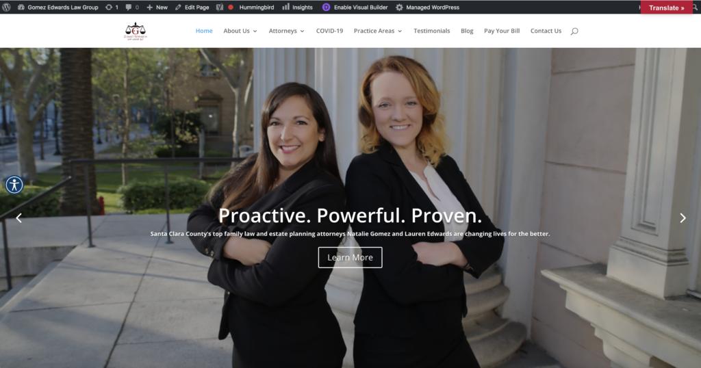 ChicFlips Website homepage