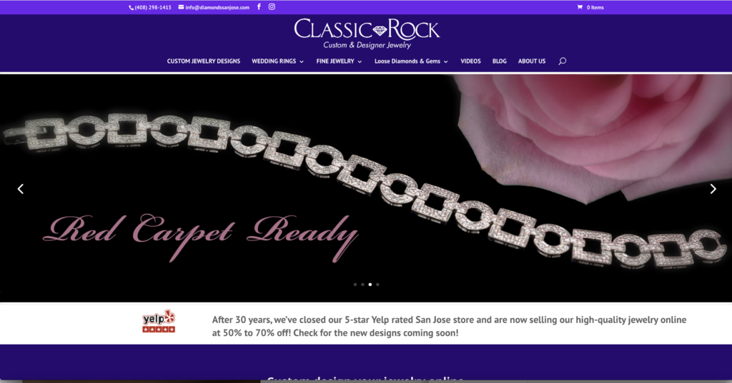 Classic Rock Custom & Designer Jewelry Home Page