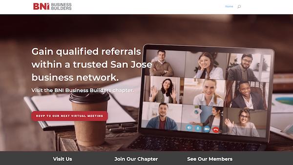 BNI Business Builders of San Jose Website